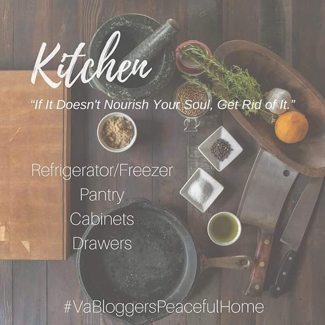 VA Bloggers Peaceful Home Organization Kitchen