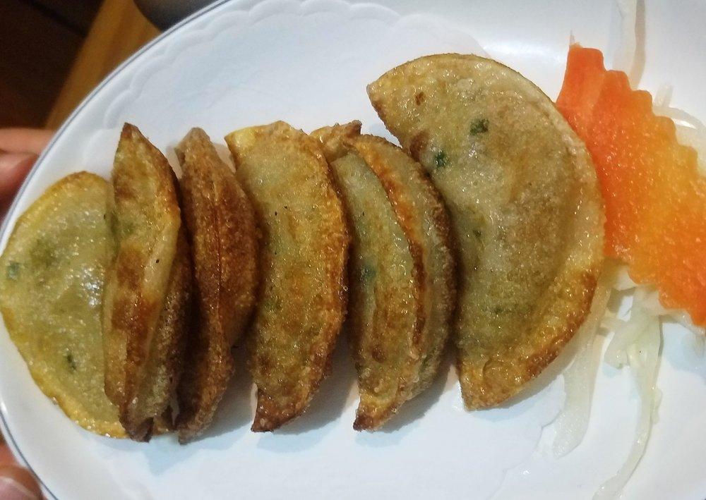 Korean BBQ Yaki Mandu Pan Fried Dumplings