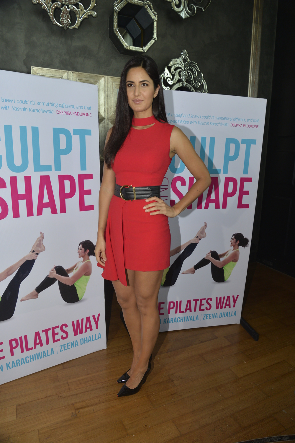 "Katrina Kaif     ""The best thing about Pilates is it is a healthy gentle sustainable approach to fitness based in strengthening and stretching your muscles. Your body feels wonderfully realigned and refreshed. Often high intensity crossfit or functional training (which is very good when you have a specific or quick target to achieve) can be very strenuous on the body.  This is true especially if you have any joint or back issues. Pilates is a very gentle way of still training your muscles without further injuring yourself.     During intense physical preparation for films like dhoom 3, and songs such as Sheila li jawaani, Pilates has always been an integral part of my training."""