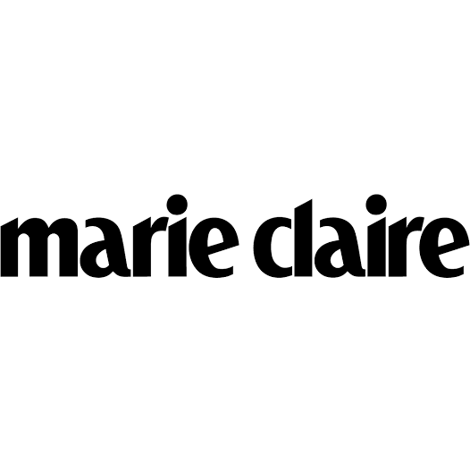 marie claire logo, link to article