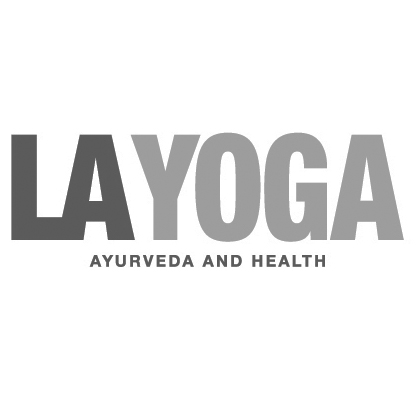 LA Yoga logo, link to article