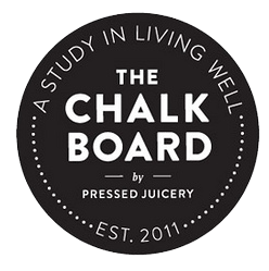 The Chalk Board logo, link to article
