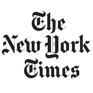 New York Times logo, link to article