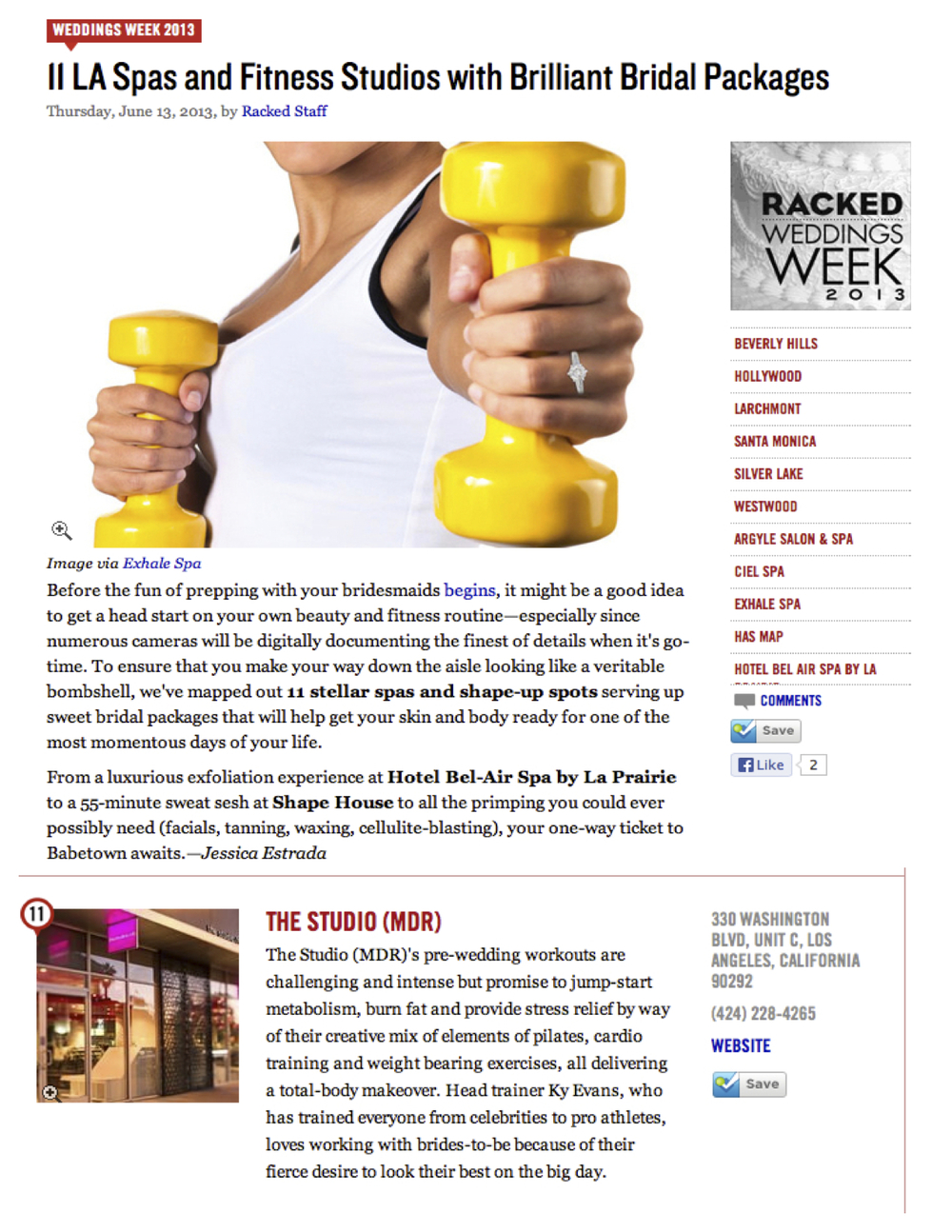 Racked article, June 2013