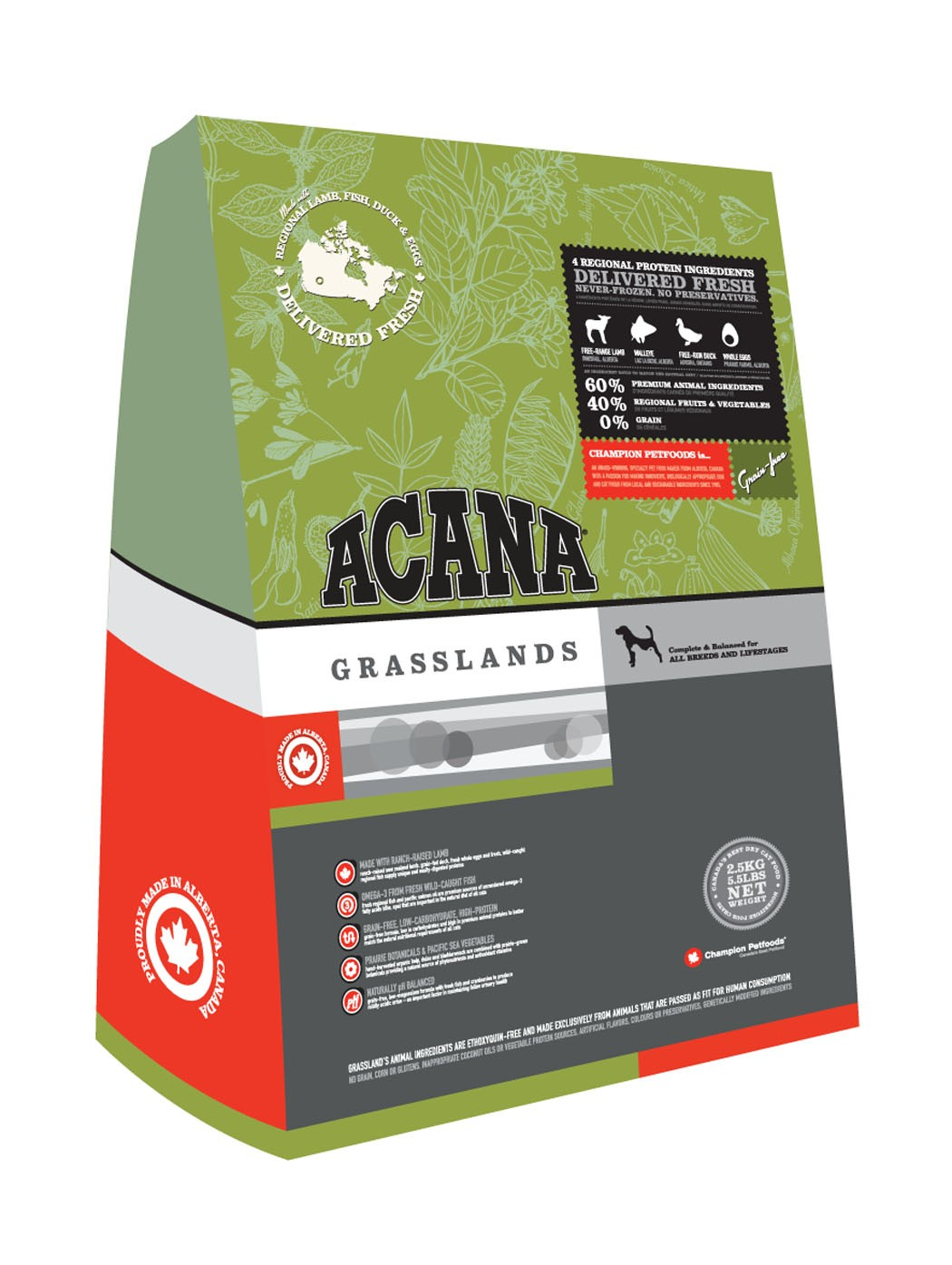 Best food for your furry friend. Willie and Mabel love ACANA Grasslands Regional Formula Grain-Free Dry Dog Food – and I love that it's a healthy pick for my little loves.