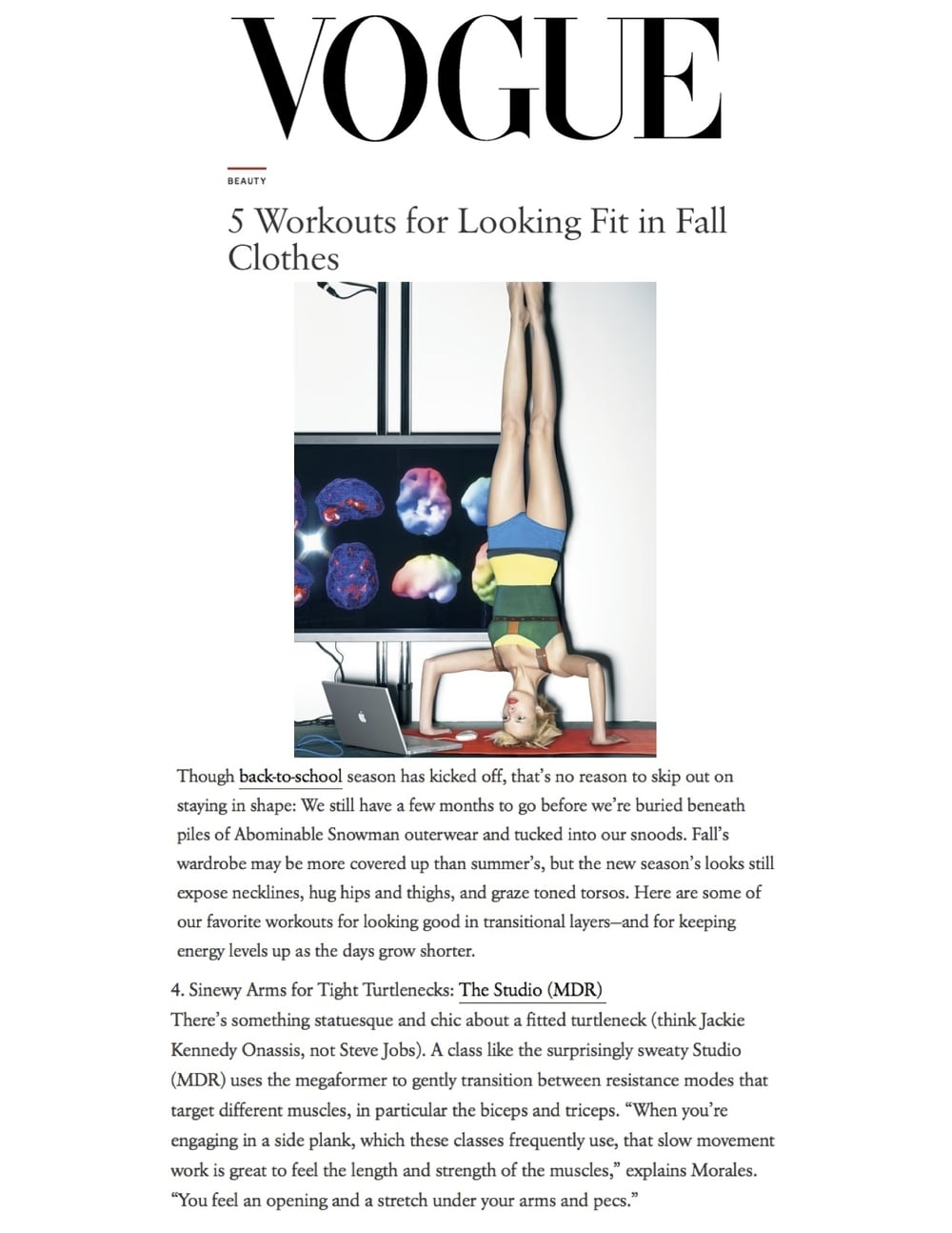 Vogue article, Sept 15