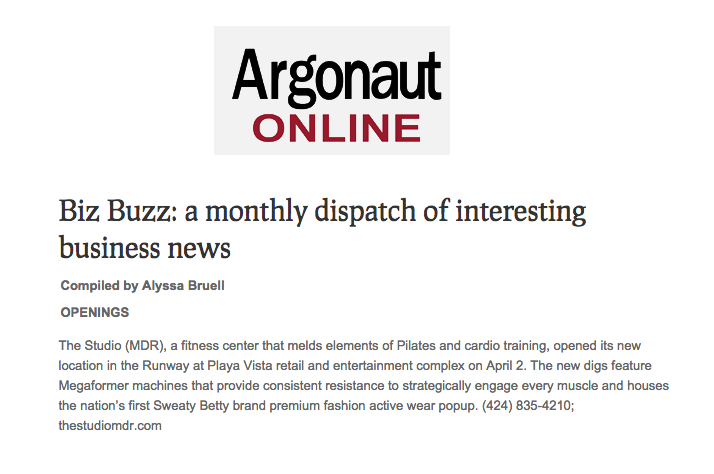 Argonaut online article, April 2016