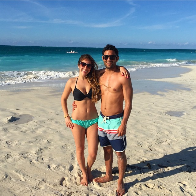Jessie & her fiancé Emil Shour on vacation