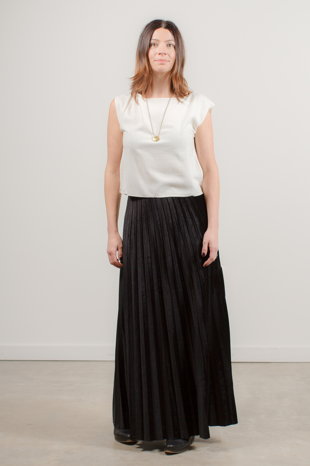 Velvet Maxi Pleated Skirt — Perican Bing