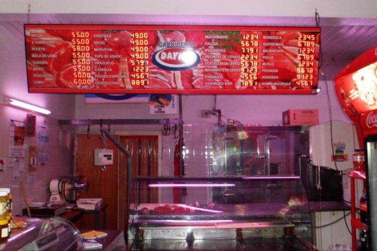 Cartel de precios - Carnicería