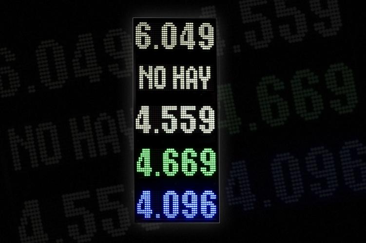 Cartel de precios - Combustibles