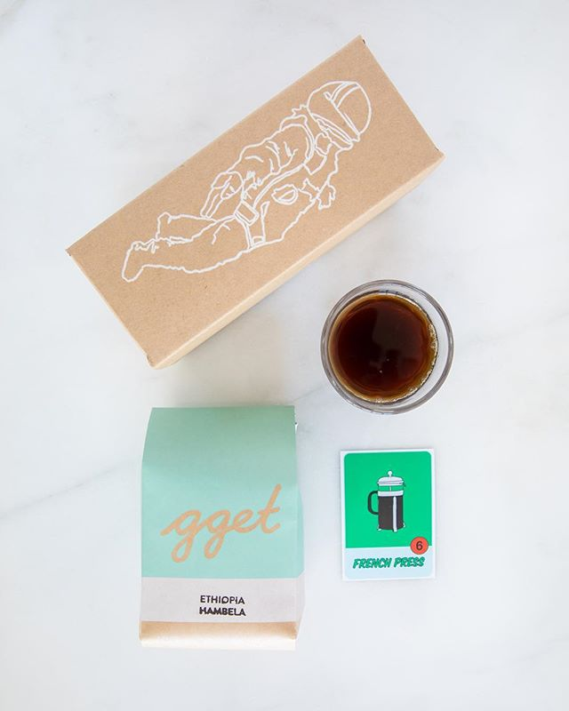 "You have questions 🤔 We got answers 🍔 ""What do I receive with my coffee subscription?"" ""How do I say French Press in other languages?"" First box shipping out today!"