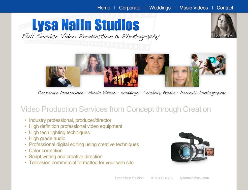 Lysa Nalin Studios Web Design