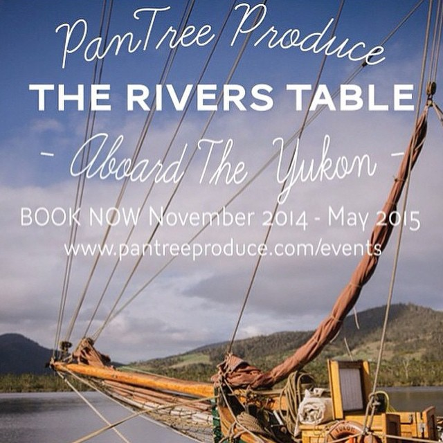 If you've been hoping to join us on the river for one of our Sunday sails book soon before this season comes to a close. The last few dates with seats available for our beautiful long lunches aboard the Yukon for The River's Table: March 29th - April 12th - April 19th email jacinta@pantreeproduce.com or call 0405487929 to book in, hope to see you in the Huon Valley for a feast of this season's local produce!  (at Franklin, Tasmania, Australia)