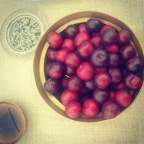 Roadside plums for a gorgeous wedding feast #pantreeproducecatering