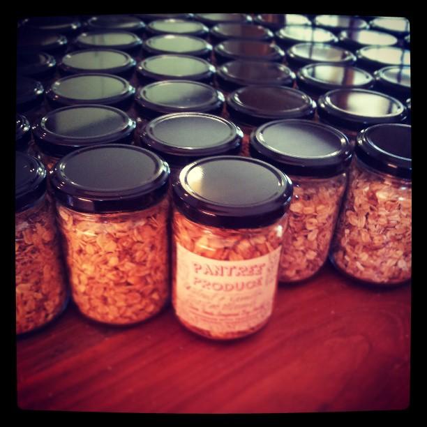 Little muesli jars heading off to the MONA pavillions tomorrow (omg)