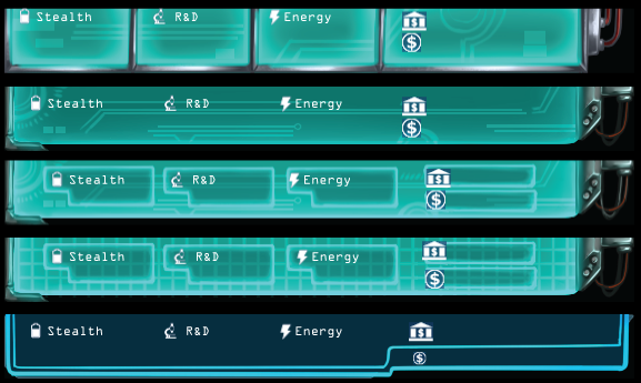 First set of test UI styles for the main currency bar.