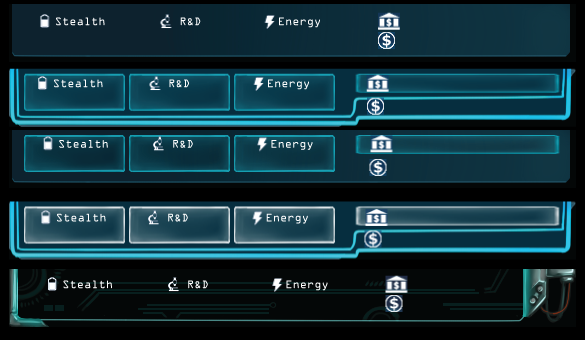 Second set of test UI styles for the main currency bar.