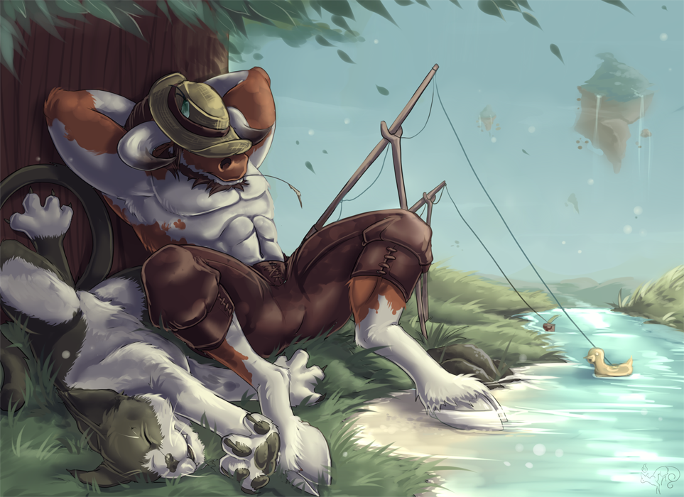 Summer Days, Private Commission Commemorating Family Pet
