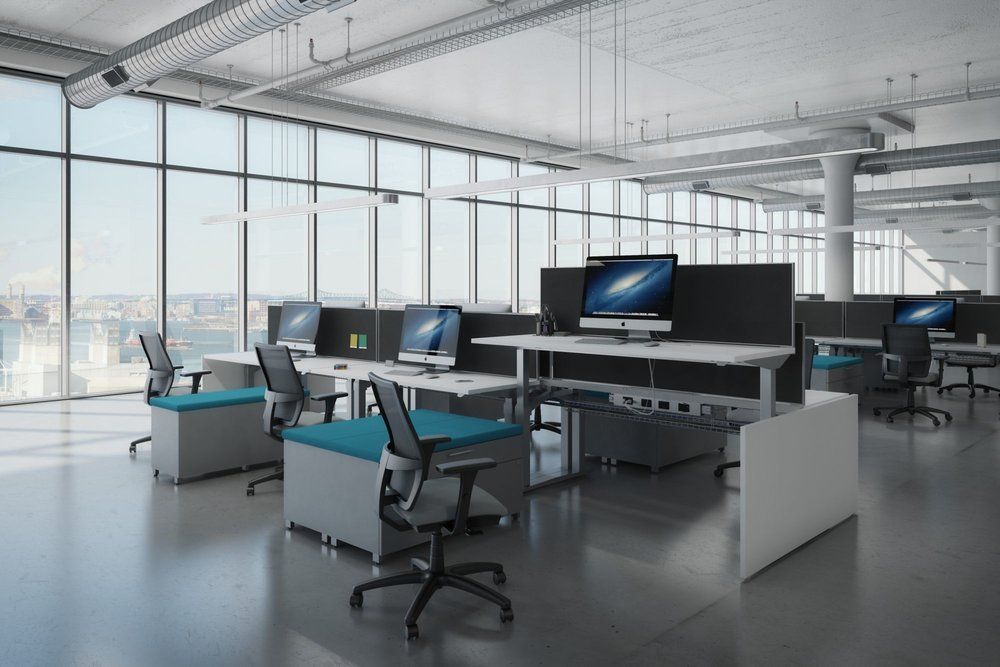 AIS Aloft Adjustable Height Sit/Stand Workstations