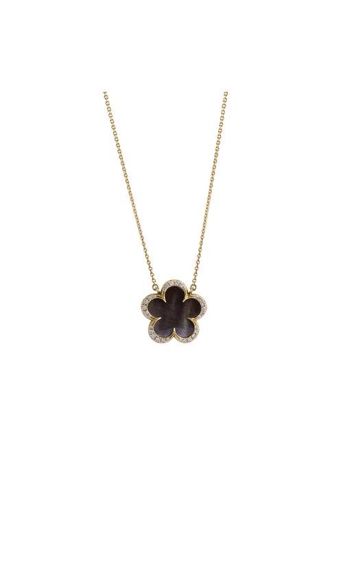 Jewelry by marsha onyx clover pendant necklace onyx clover pendant necklace aloadofball Image collections