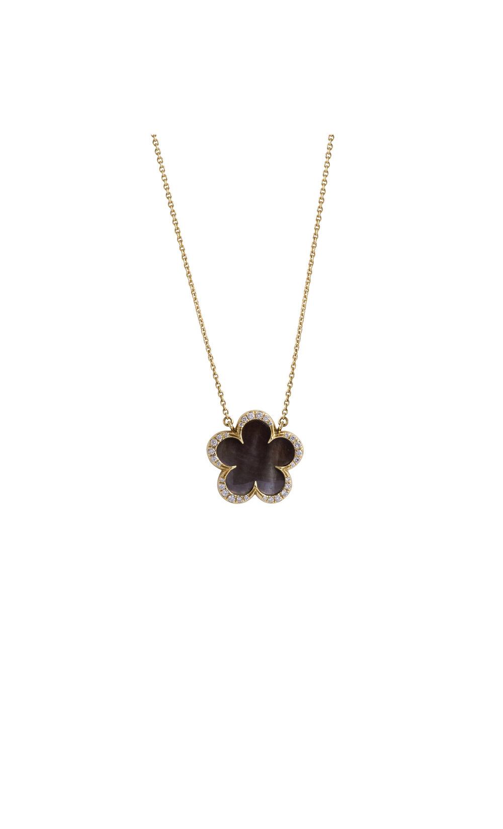 Jewelry by marsha onyx clover pendant necklace onyx clover pendant necklace aloadofball Choice Image