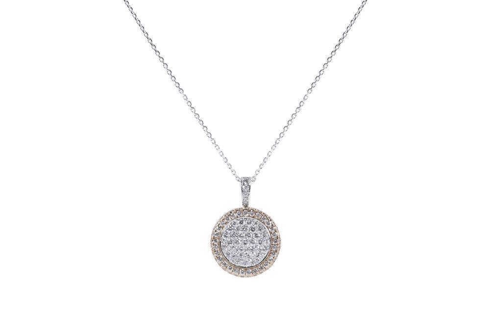 Jewelry by marsha round pav diamond pendant round pav diamond pendant aloadofball Images