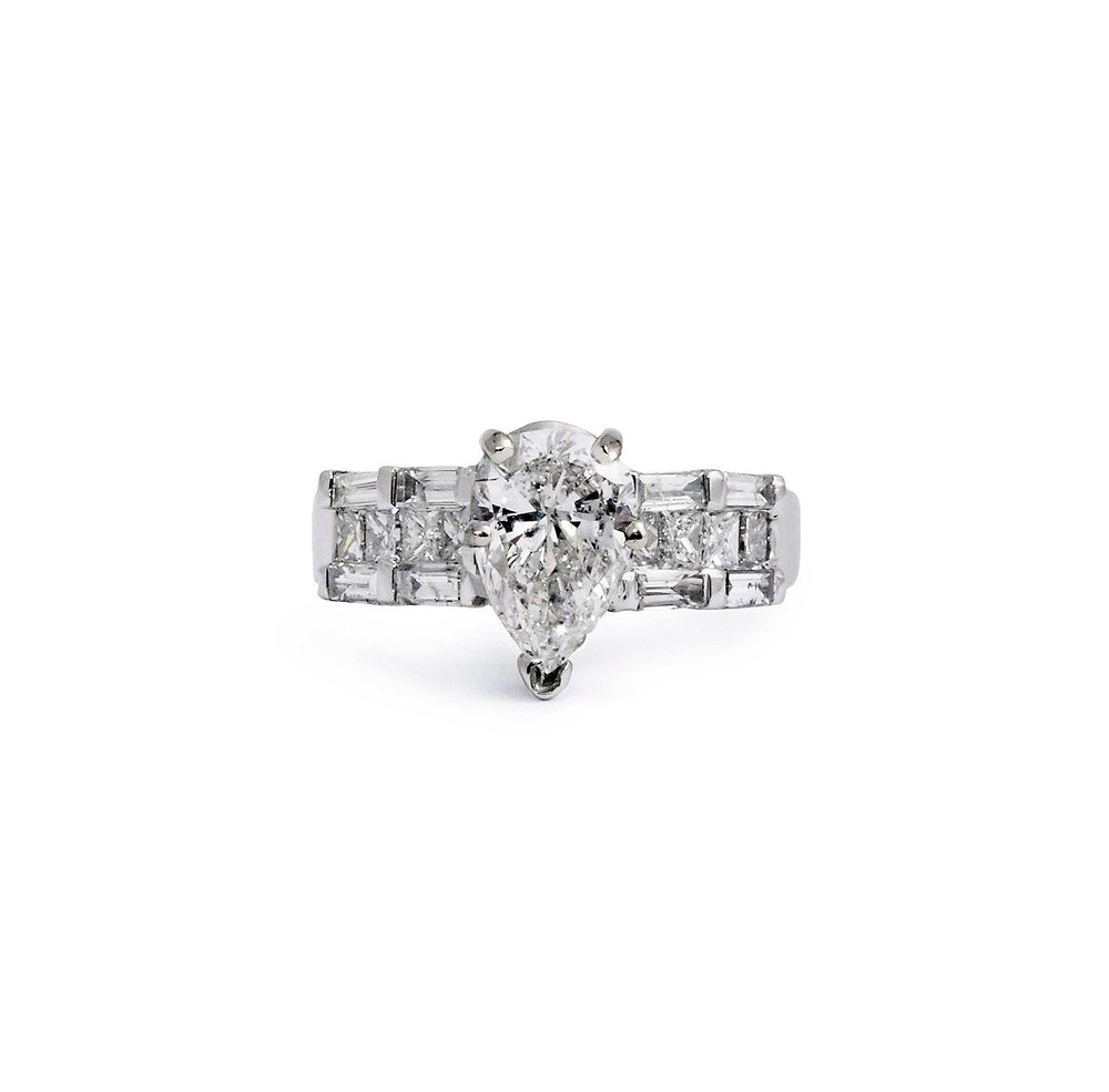 ring the platinum shaped context diamond engagement large p rings beaverbrooks wedding