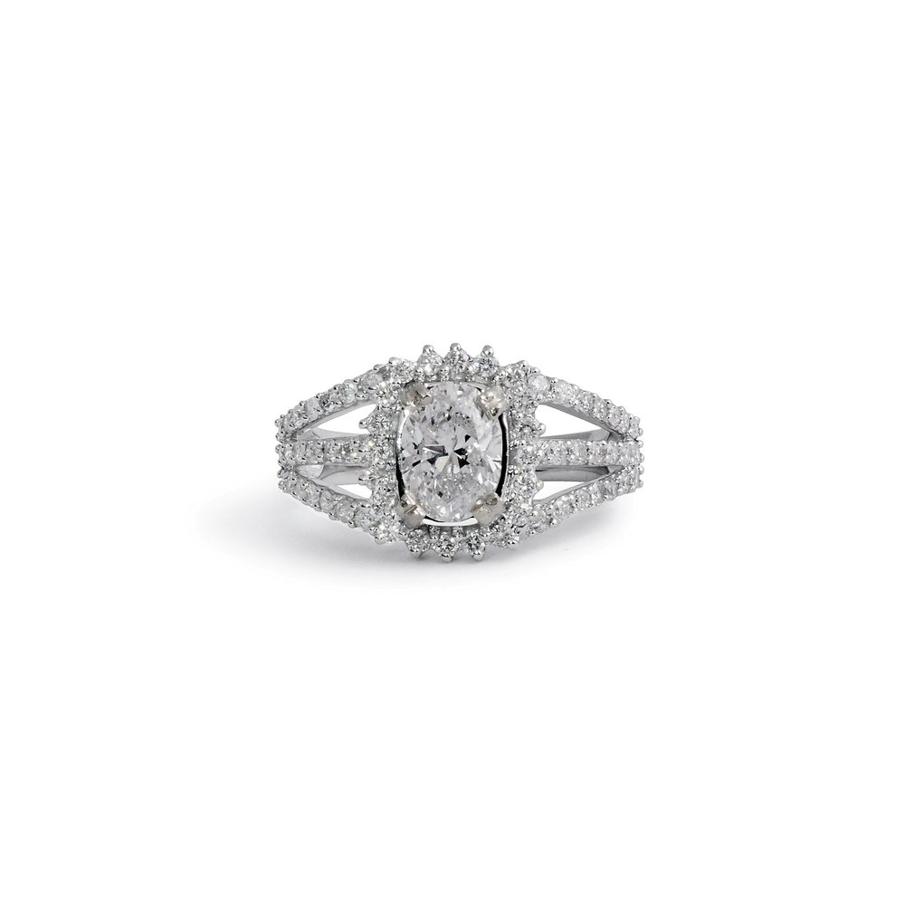 diamonds rings products designs silverscape double side diamond ring split prong engagement shank