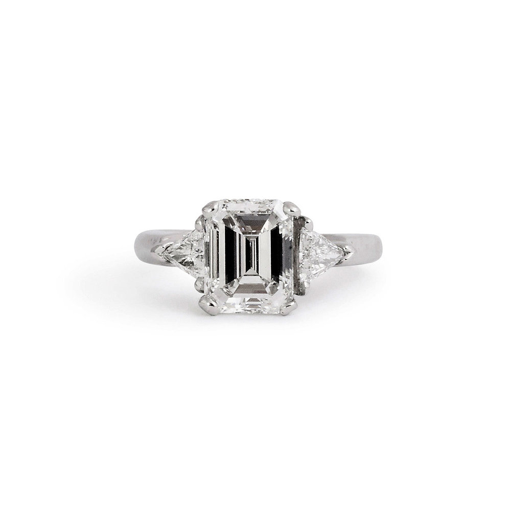 ring product diamond estate emerald engagement cut tv