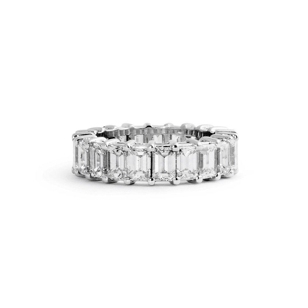 natural diamond women kt img ct rings band s eternity in baguette round jewelry white tapered solid bracelet gold