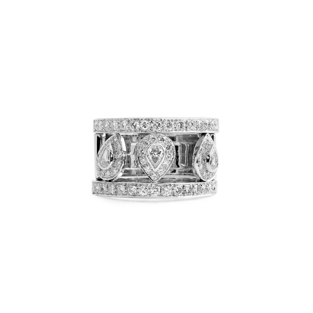 Jewelry By Marsha Three Pear Shape Diamond Wedding Band