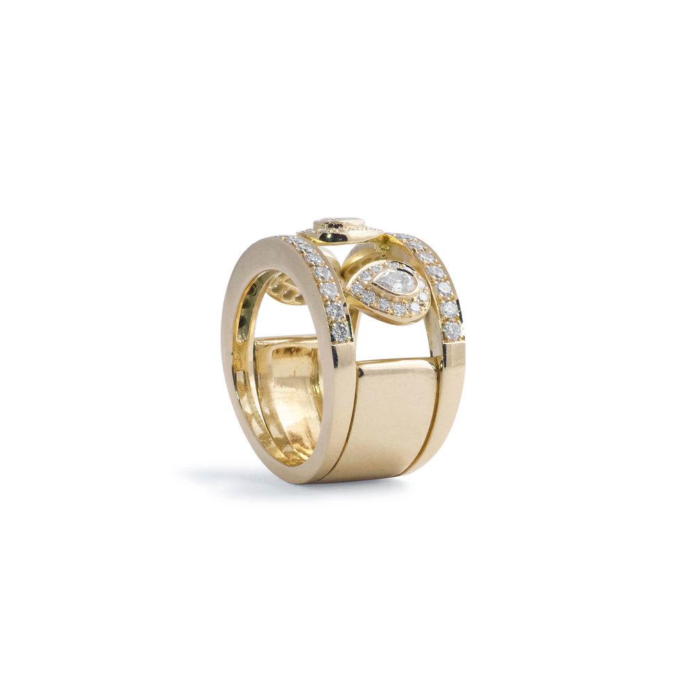Jewelry By Marsha Triple Pear Shape Diamond Wedding Band