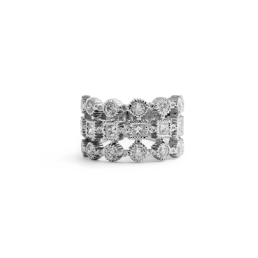 af7da8fb1ca Jewelry By Marsha — Round Brilliant and Princess Cut Wedding Band