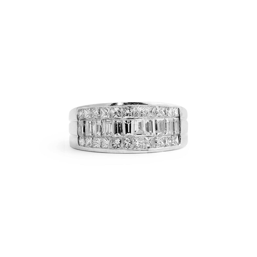 round with eternity band diamond bands wh baguette and diamonds p platinum