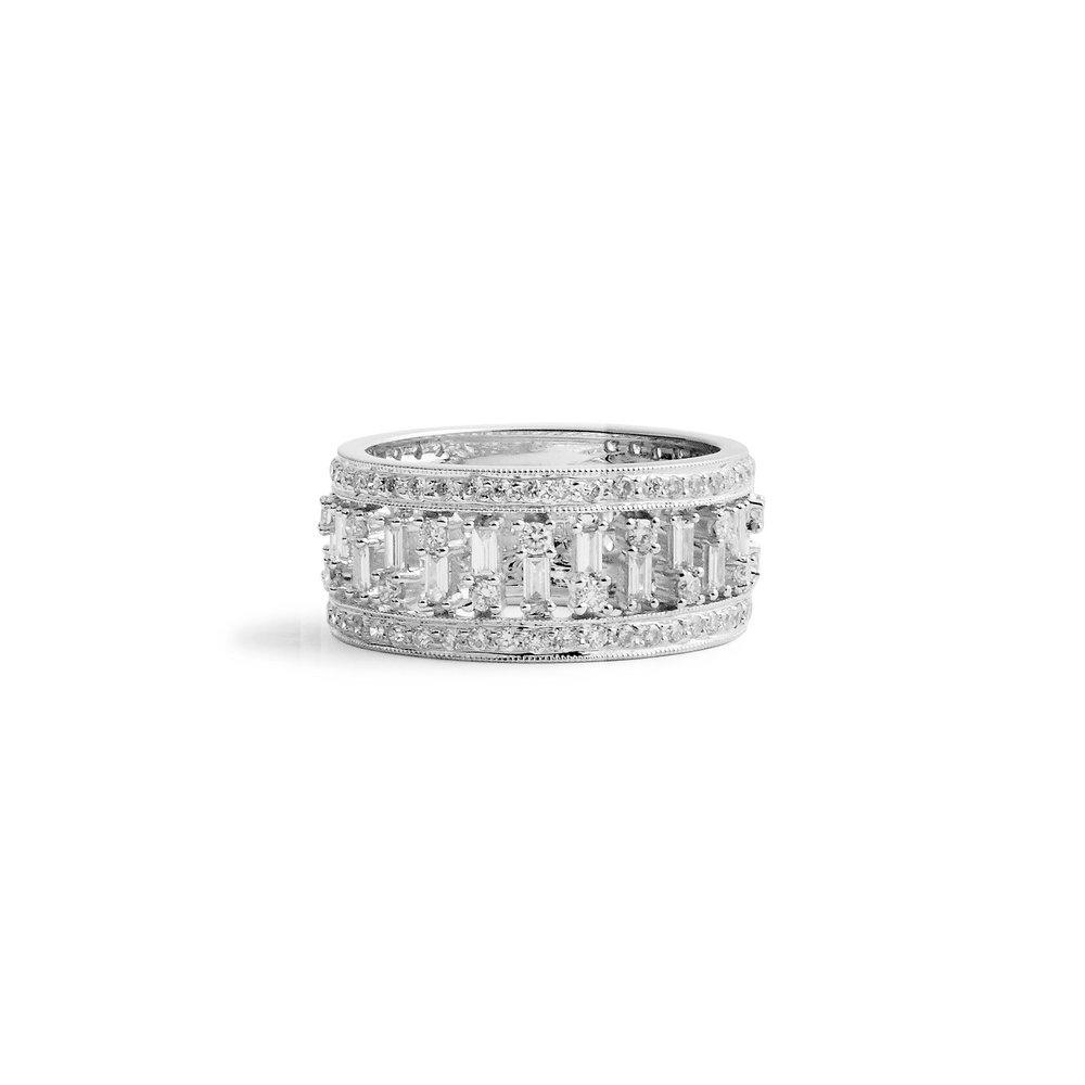 products wedding rings designyard diamond ring baguette platinum denzel henrich solitaire
