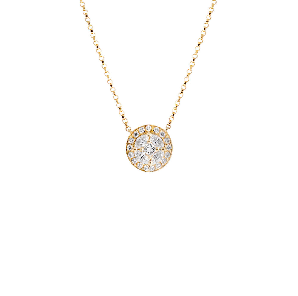 Jewelry by marsha round diamond pendant necklace round diamond pendant necklace mozeypictures Images
