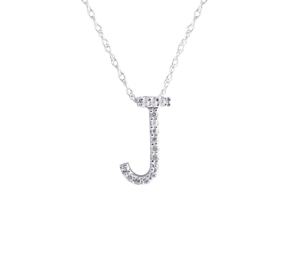 Jewelry by marsha diamond letter pendant necklace diamond letter pendant necklace aloadofball Images