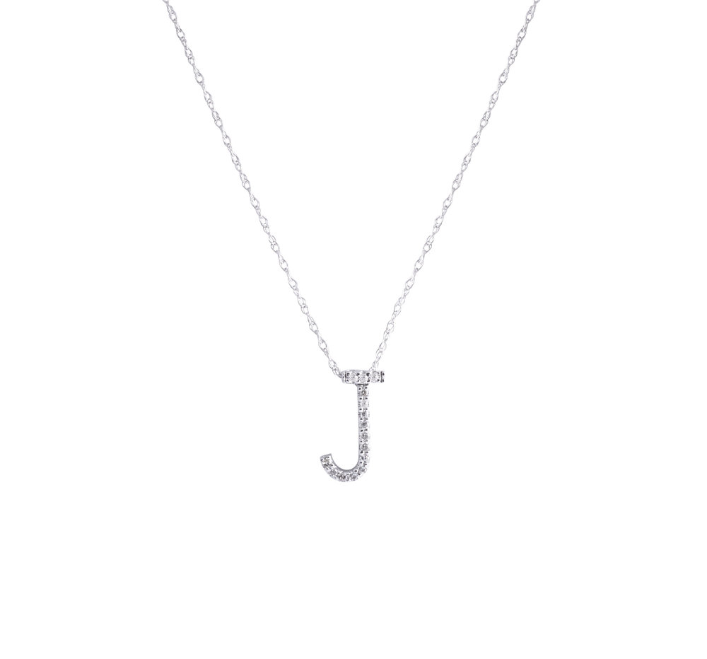 7ea821820c Jewelry By Marsha — Diamond Letter Pendant Necklace