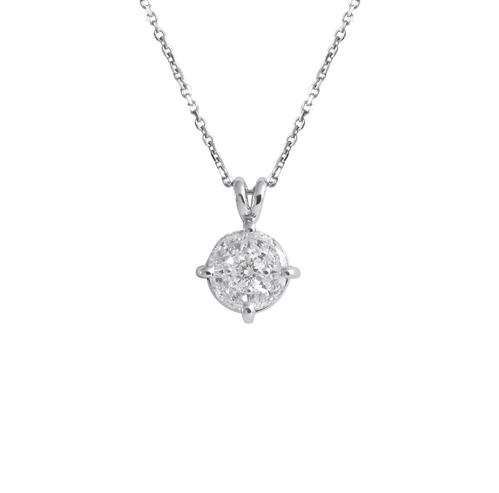 charm centres pendant product brilliant pave micro necklace diamond crislu