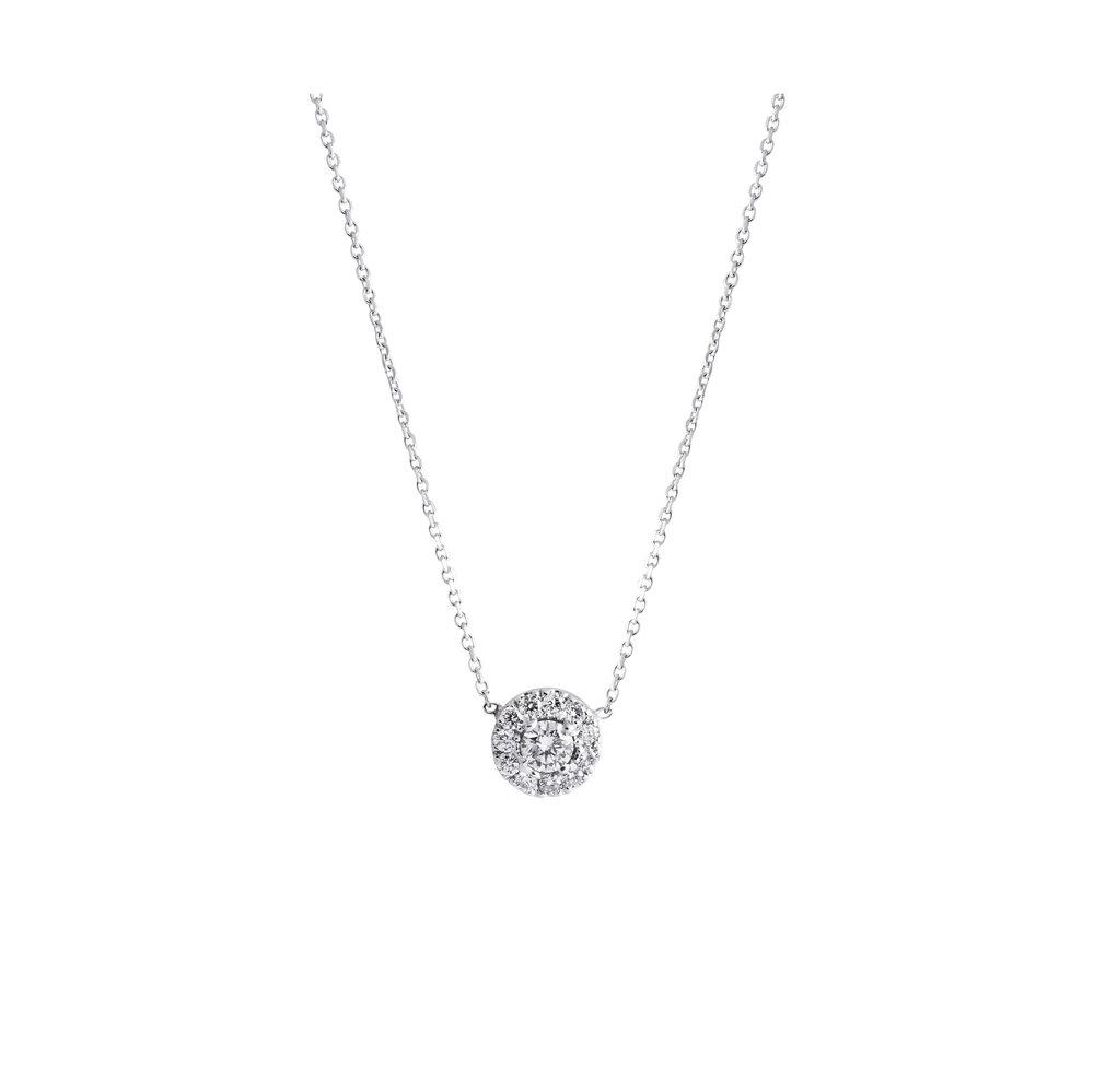 Jewelry by marsha multi stone round diamond pendant multi stone round diamond pendant mozeypictures Images