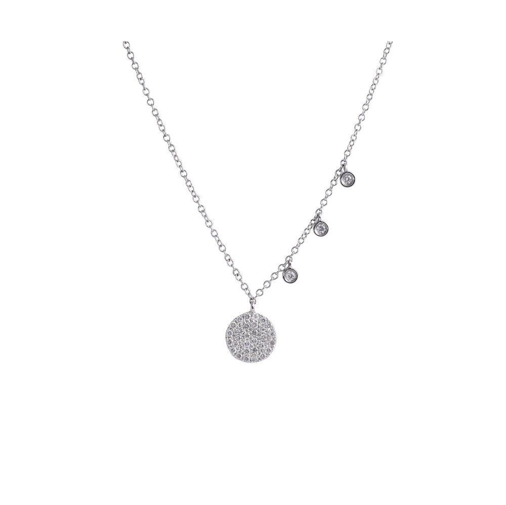 Jewelry by marsha pav diamond disc pendant necklace pav diamond disc pendant necklace aloadofball Choice Image