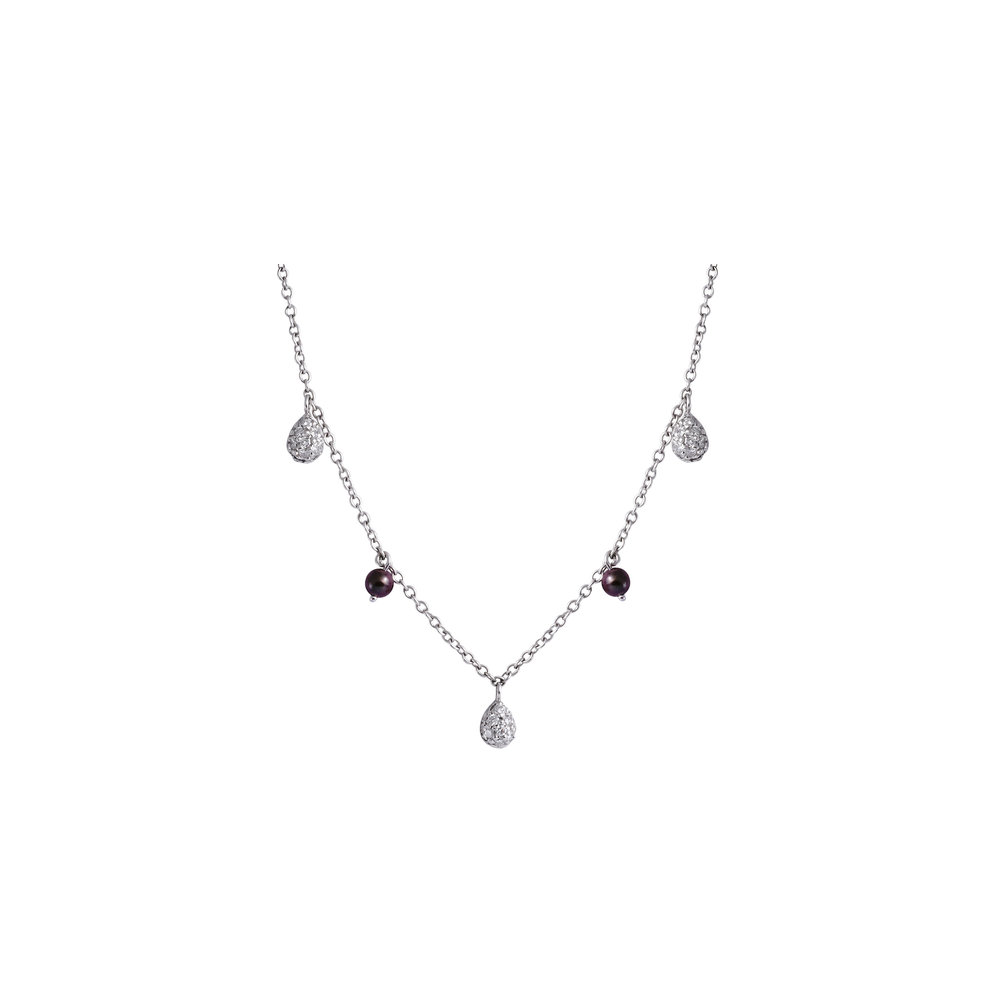 necklace tahitian aaaa black sea south certified quality pearl