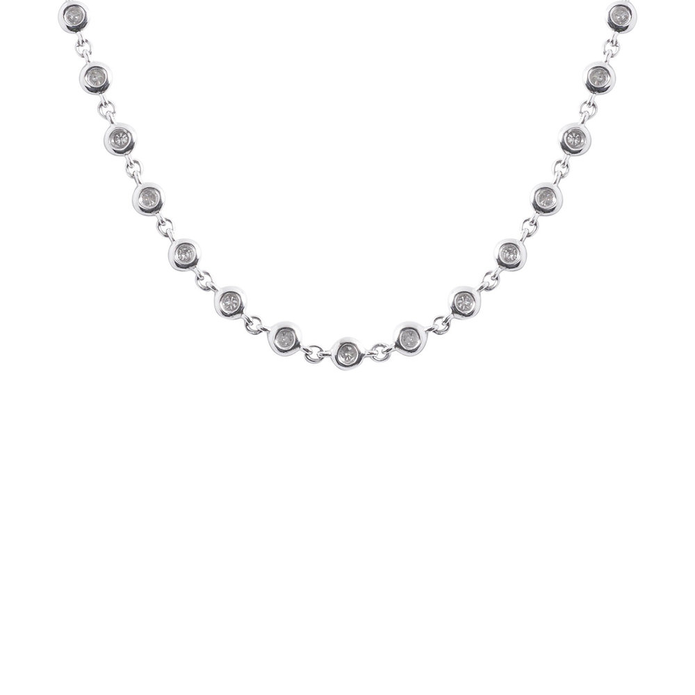 bezel gold cable round diamond necklace shop white uncategorized chain set