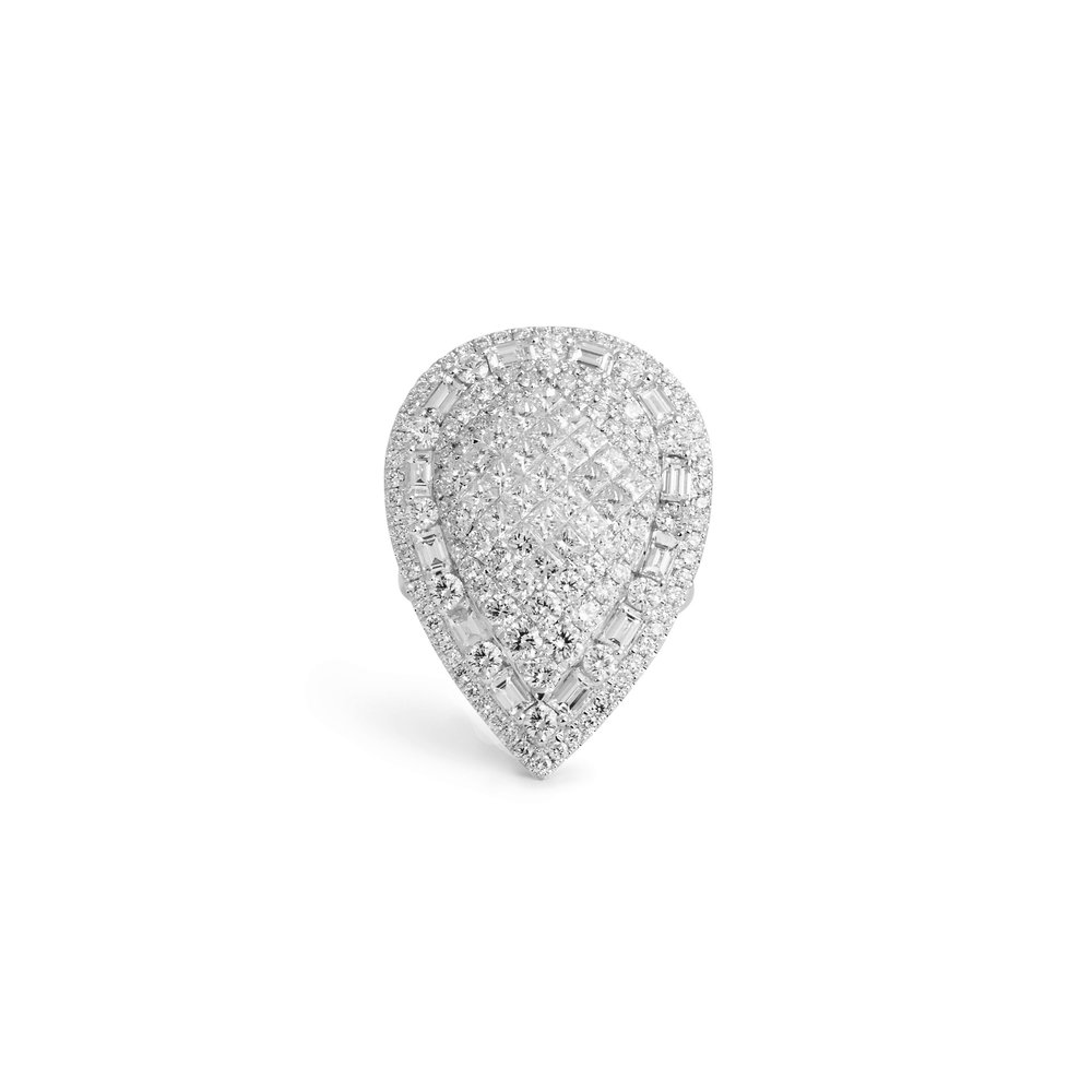 solitaire harry kotlar platinum shape ring pear diamond product