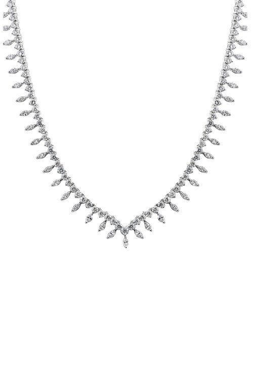 Jewelry by marsha necklaces pendants v shape marquise and round diamond necklace aloadofball Image collections