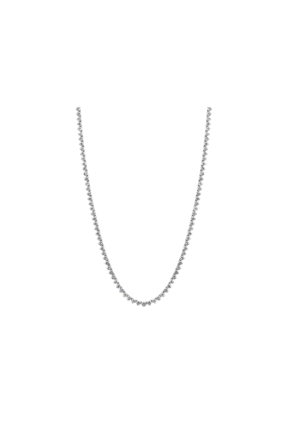 product necklace total gold karat of weight tennis white carat diamonds with