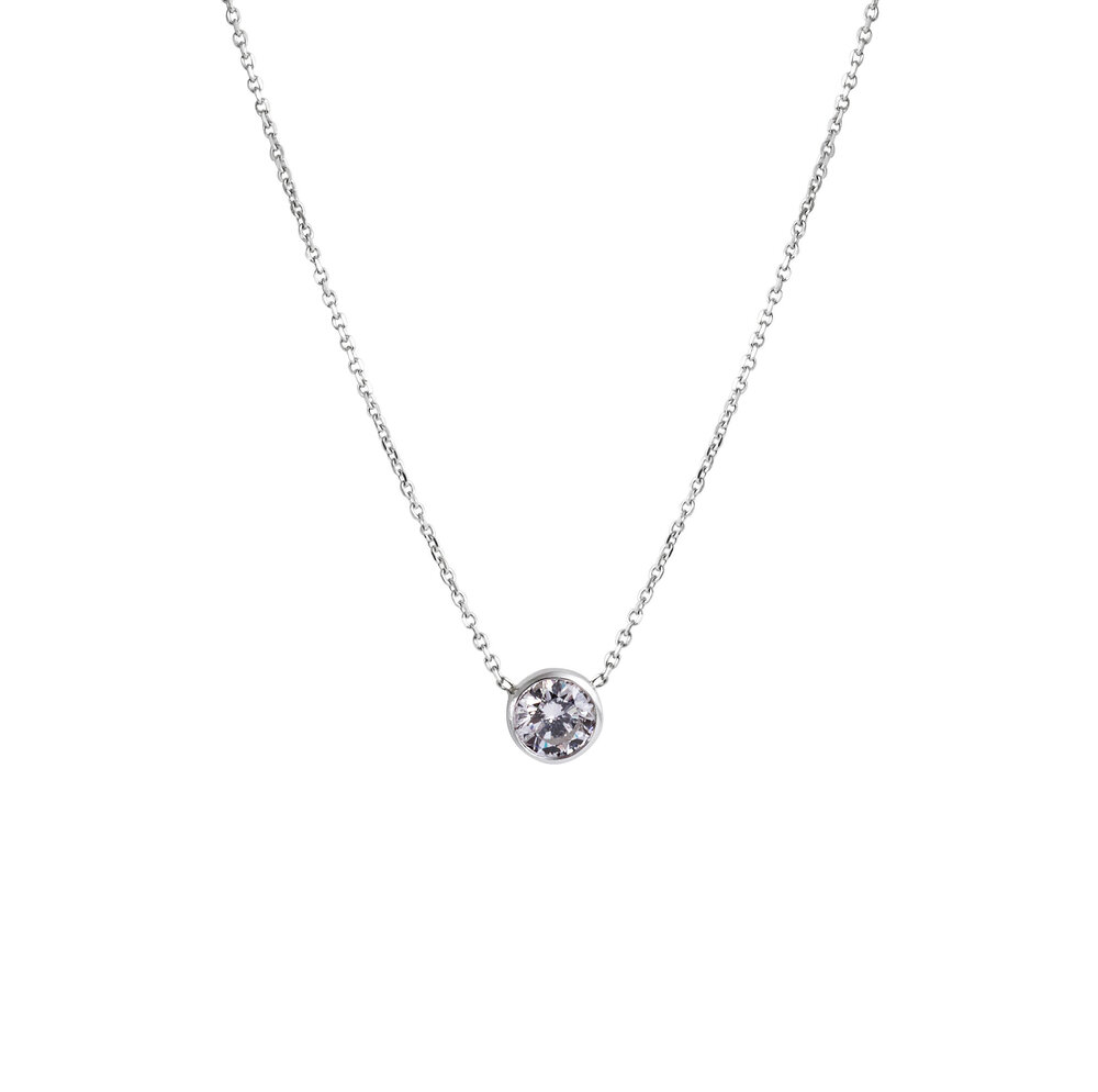 cz necklace fullxfull zoom simple solitare solitaire listing diamond silver il
