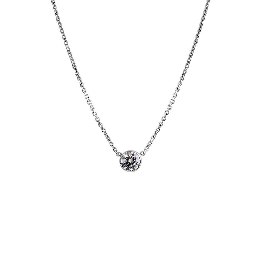 solitare bezel rolo solitaire chain white necklace edwards a set gold in davies diamond pendant product on