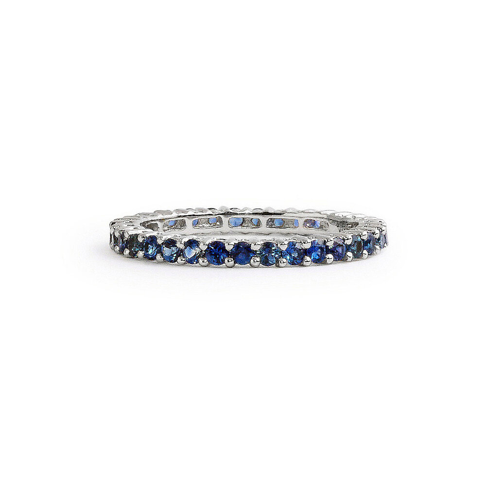 bands silver sapphire jewelry five anniversary diamond nl prong blue sterling in wedding round wg white stone set gold band with